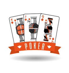 poker gambling winning playing card combination vector image