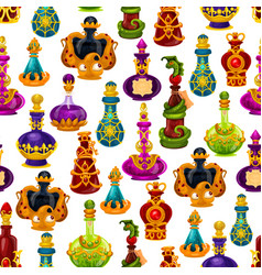 potion bottle seamless pattern halloween design vector image