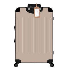 realistic large polycarbonate travel plastic vector image