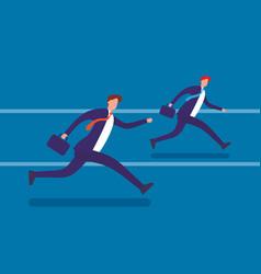 running businessmen flat vector image