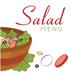 salad menu salad background image vector image
