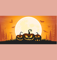 scary halloween background 01 vector image
