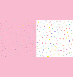 Seamless colorful confetti sprinkle pattern vector