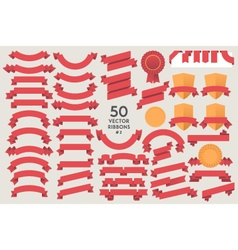 Set of 50 Ribbons vector image