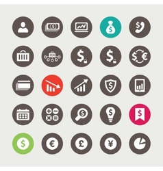 Set of financial and business icons vector