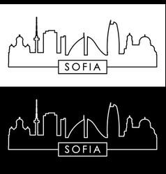 sofia skyline linear style editable file vector image