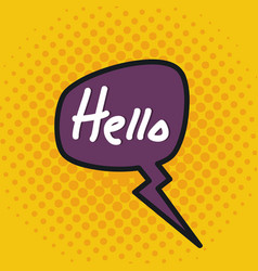 speech bubble with hello message vector image