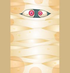 Spooky eyes flat vector