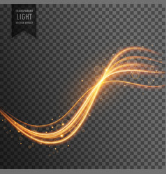 Transparent light effect with trails and sparkles vector