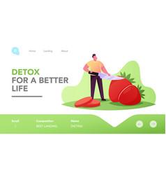 vegetarian and detox diet healthy food fortified vector image