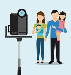 Video camera design vector