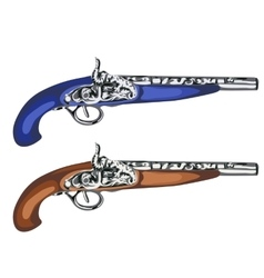 Vintage musket weapons of times past vector