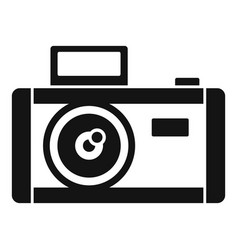 vintage photo camera icon simple style vector image