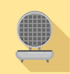 Waffle maker icon flat style vector