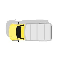 Car Van Top View Flat Design vector image vector image