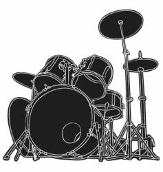 drums sketch vector image