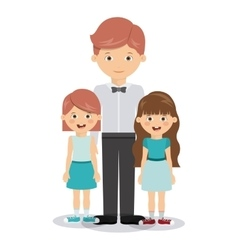 family members design vector image vector image