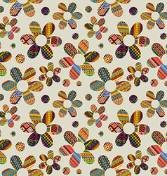 Seamless background with ethnic motifs patterned vector