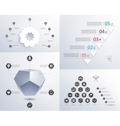 set of infographics 3d shape pyramid vector image vector image