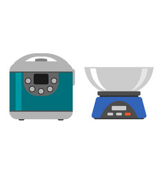 home weight instrument measurement tool cooking vector image