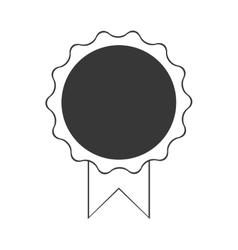 premium quality badge ribbon dark bakground vector image vector image