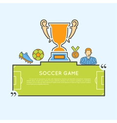 Soccer Game Concept vector image vector image