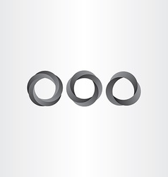 impossible looped black circle set vector image vector image