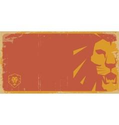 Lion vintage poster lion retro pattern lion temp vector image