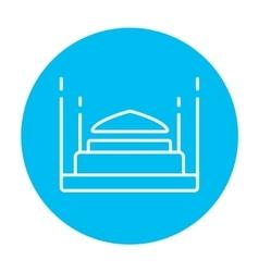 Taj Mahal line icon vector image vector image