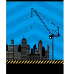 urban construction illustration vector image vector image