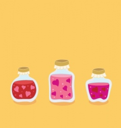 Valentine jam jars vector image