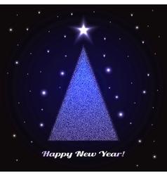 Christmas Tree Holidays vector image vector image