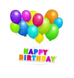 Happy Birthday theme colorful air balls vector image vector image