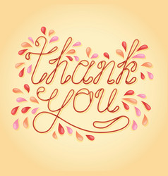 thank you lettering greeting card lettering vector image vector image