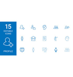 15 profile icons vector
