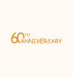 60 anniversary logo concept 60th years birthday vector image