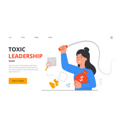 angry female boss character yelling at employees vector image