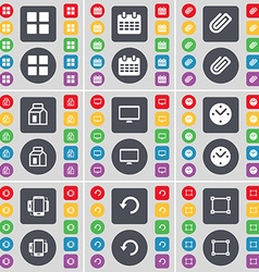 Apps Calendar Clip Packing Monitor Clock vector image