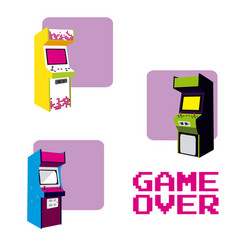 arcades game over vector image