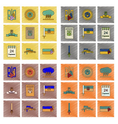 Assembly flat shading style icon ukraine vector