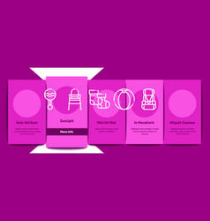 baclothes and tools onboarding elements icons vector image