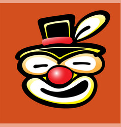 Bad clown face vector