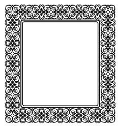 black openwork frame vector image