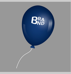 blue air balloon icon realistic style vector image