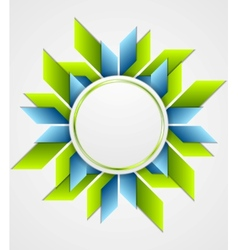 Bright corporate geometric logo with circle vector image