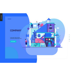 Business series - company teamwork and vector
