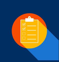 checklist sign white icon on vector image