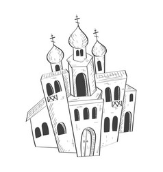 christian orthodox church hand drawn sketch vector image