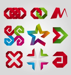 Collection abstract logos tape vector