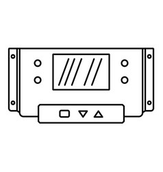 digital panel icon outline style vector image